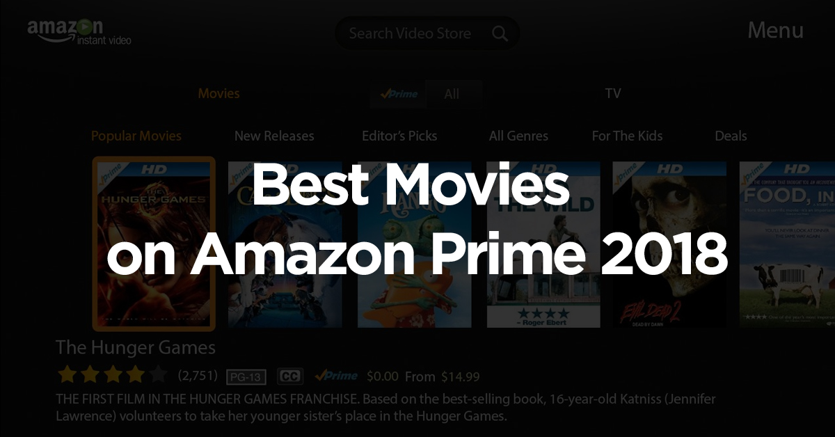 Current ranking of the 50 best movies on Amazon Prime video.