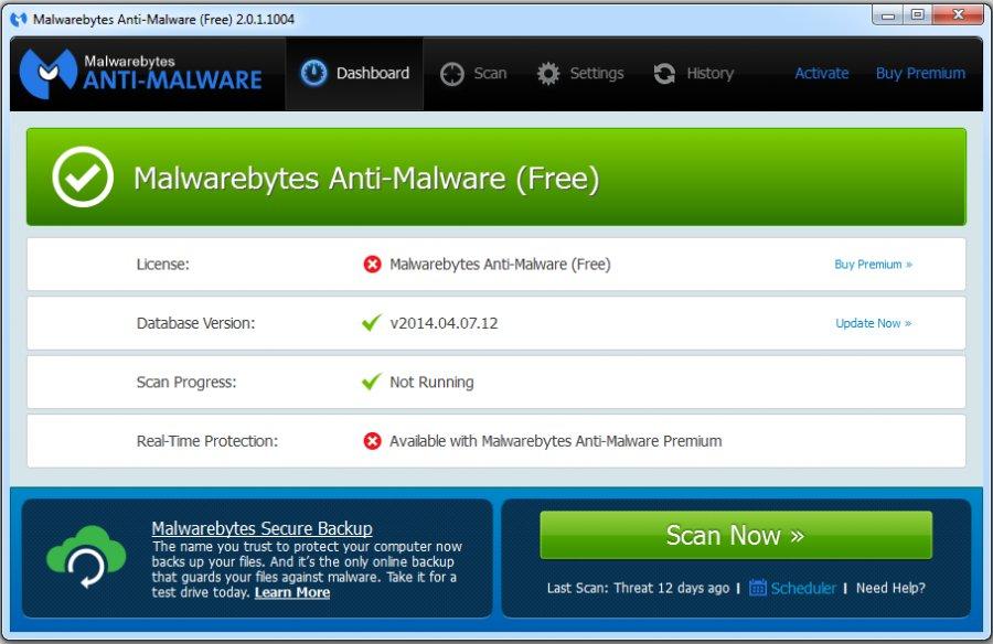 Malwarebytes Anti-Malware | Freemium