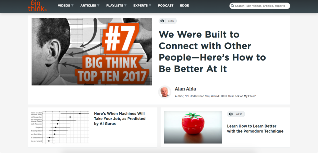 bigthink - most interesting sites on the internet