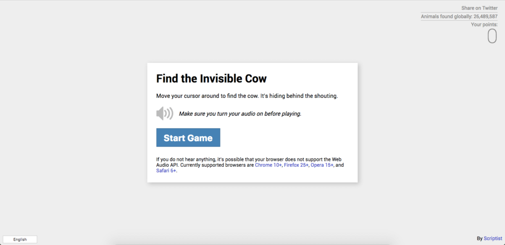findtheinvisiblecow - the most interesting websites