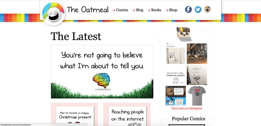 the oatmeal - interesting website names