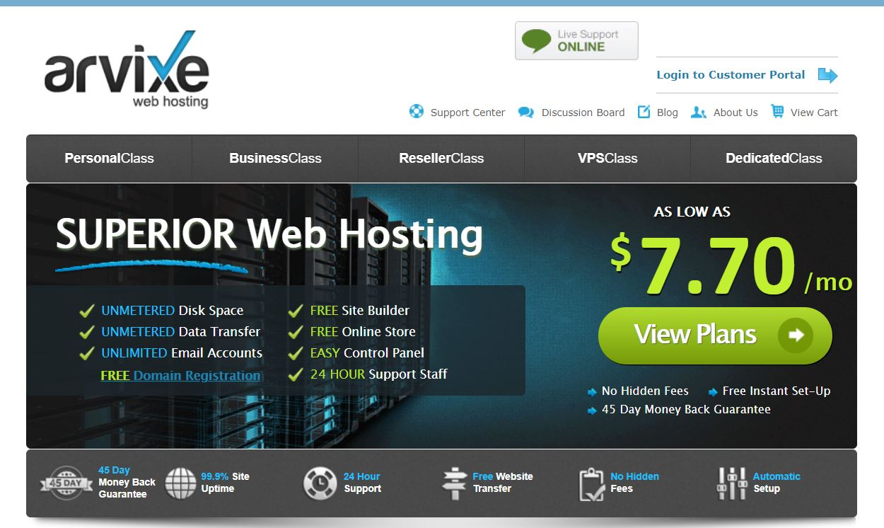 Bluehost v/s Arvixe Review