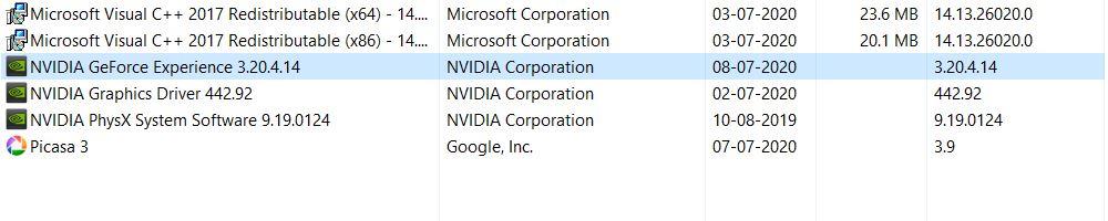 geforce experience won't open windows 10
