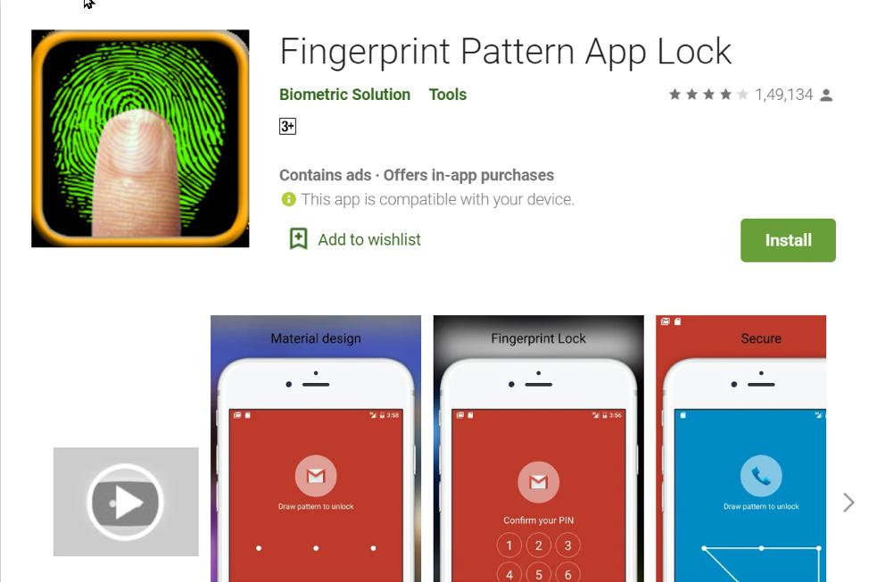 2. Fingerprint Pattern App Lock