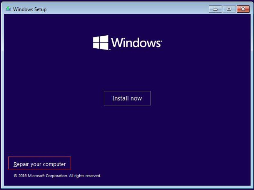 Automatic Repair on the Advanced options window.