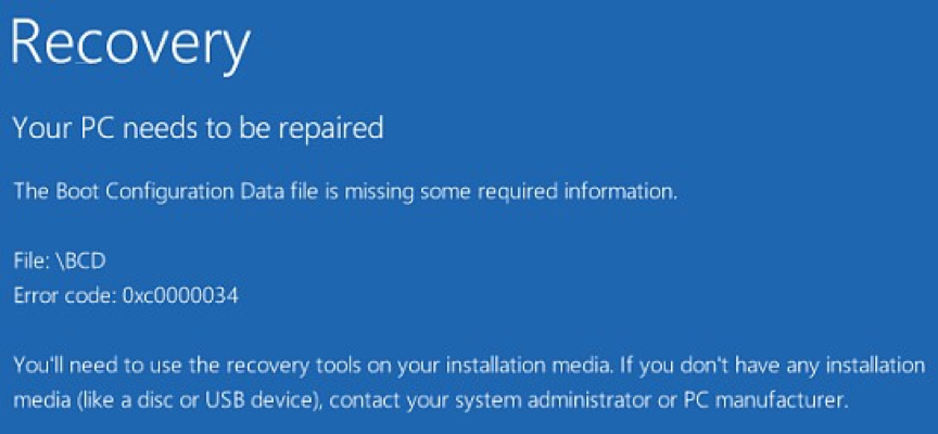 Data Recovery from BCD Missing Windows