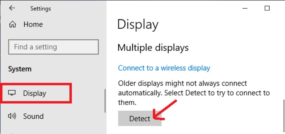 Detect button