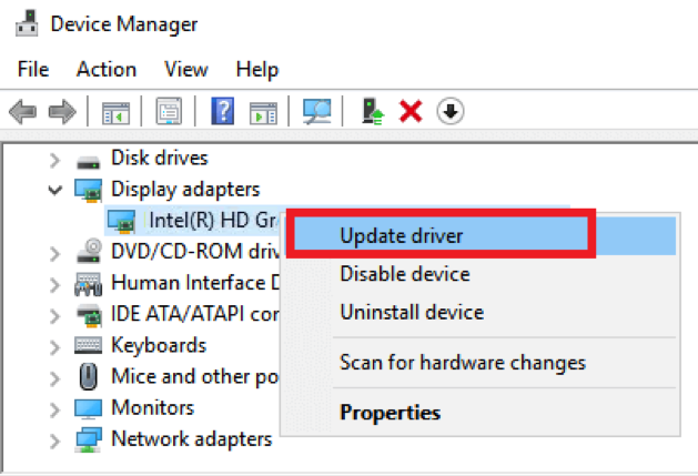 Update driver option