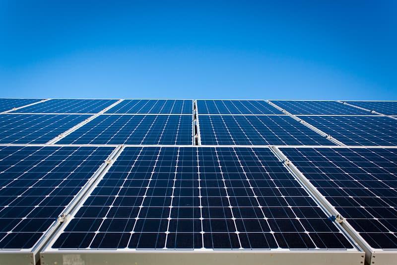 photo-of-blue-solar-panels