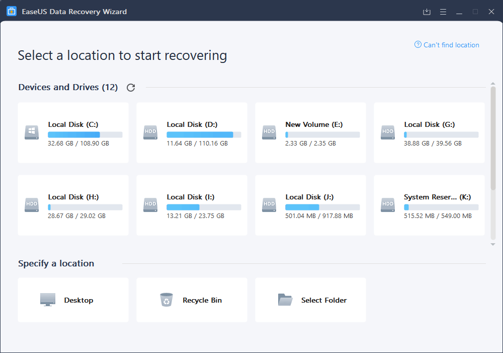 Easeus Data Recovery Wizard_1