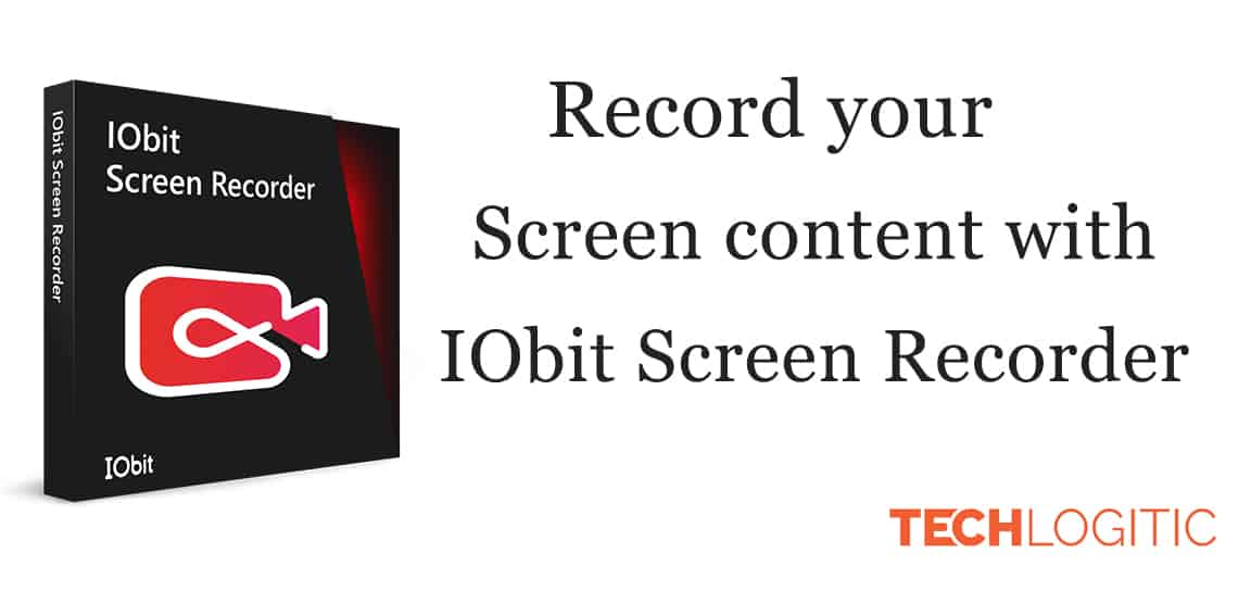 IObit screen recorder