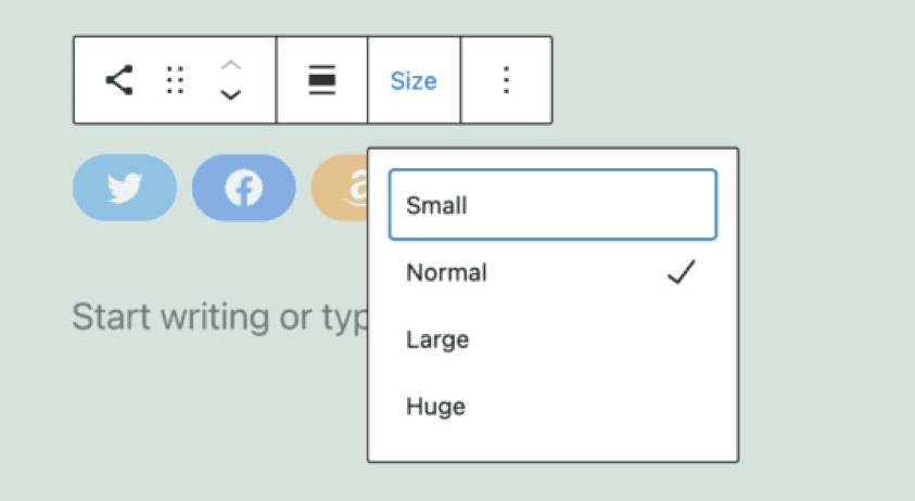 4. Custom color and size of your social icon