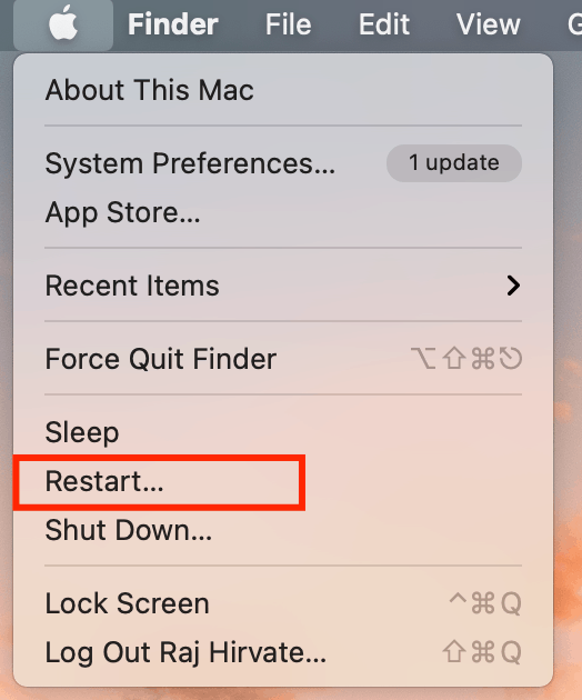 Macbook Restart