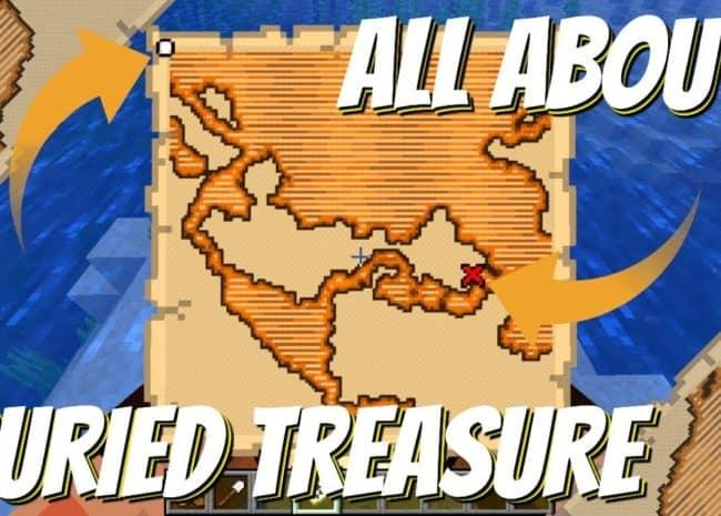 minecraft buried treasure map