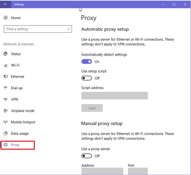 open proxy tab