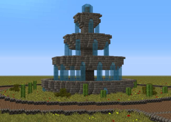 minecraft fountain