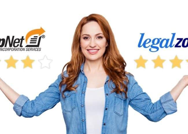 CorpNet Vs LegalZoom