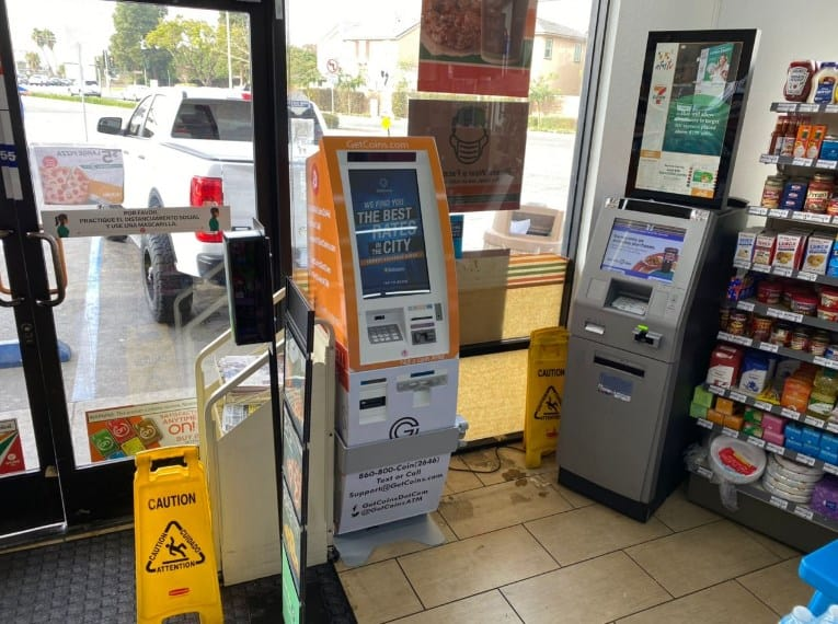 Bitcoin ATM in a store